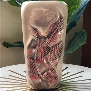 Vintage Pink Feather Vase